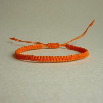 Simple Single Orange Braided Adjustable Friendship Bracelet