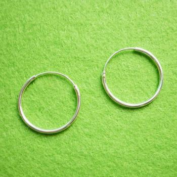 20 mm Hoop Earrings - Large Hoop 925 Sterling Silver Hoop Earrings - Gift under 10 - Nose Hoop Earrings - Silver Round Hoop Earrings