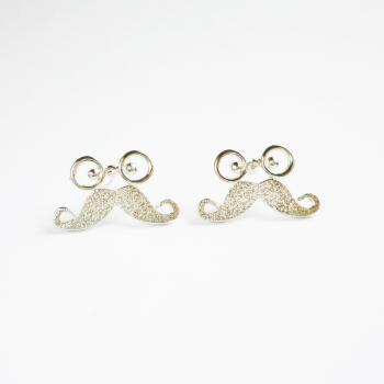 Glasses and Mustache Stud Earrings - Gift for Her - Gift under 10